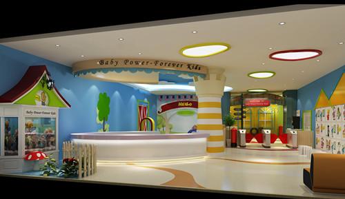 早教中心装修设计儿童游艺区 早教中心装修设计园林区 早教中心装修